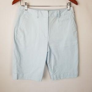 Talbots Petite Stretch Bermuda Flat Front Shorts